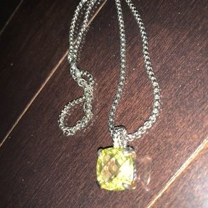 Jewelry - David yurman inspired real silver necklace yellow